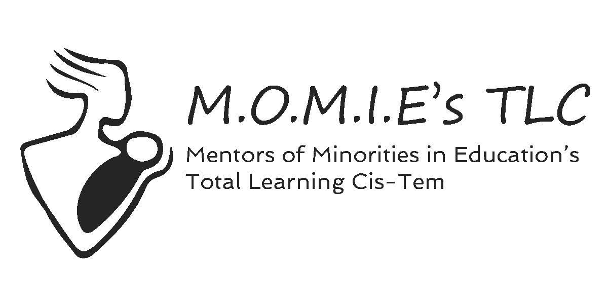 M.o.m.i.e. logo with text b w